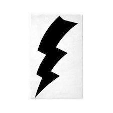 CB Lightning Bolt T-Shirt 3'x5' Area Rug