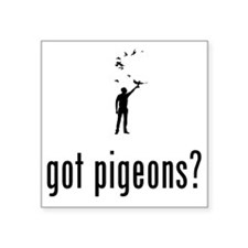 """Pigeon-Racer-02-A Square Sticker 3"""" x 3"""""""