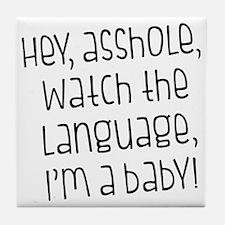 Watch The Language Tile Coaster