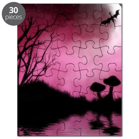 Enchanted-Silhouette-dragon-Red Puzzle