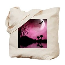 Enchanted-Silhouette-dragon-Red Tote Bag