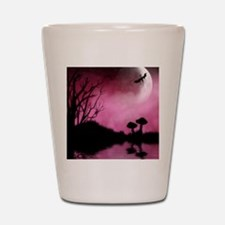 Enchanted-Silhouette-dragon-Red Shot Glass