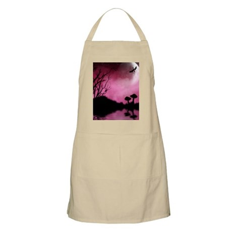 Enchanted-Silhouette-dragon-Red Apron