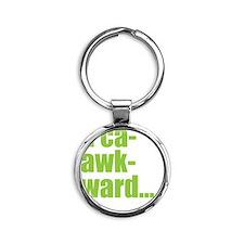 acaawkward - white Round Keychain