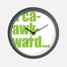 acaawkward - white Wall Clock
