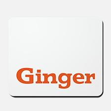 Ginger - White Mousepad