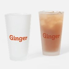 Ginger - White Drinking Glass
