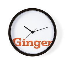 Ginger - White Wall Clock