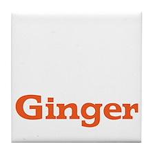 Ginger - White Tile Coaster