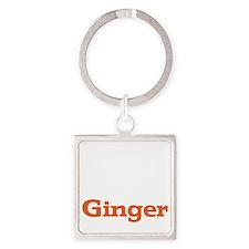 Ginger - White Square Keychain
