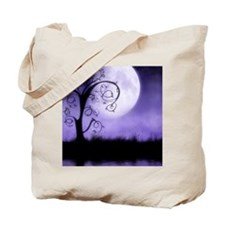 Enchanted-Silhouette-Tree-Purple Tote Bag