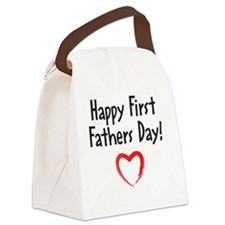 Happy First Fathers Day! Canvas Lunch Bag