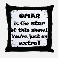 Omar is the Star Throw Pillow