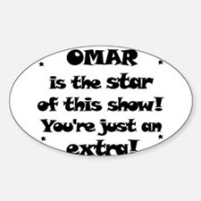Omar is the Star Oval Decal