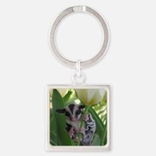 May Flowers Square Keychain