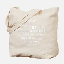 Inspirational Affirmations Tote Bag