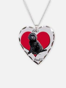 Black Golden Doodle Love Dad Necklace