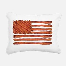 United States of Bacon F Rectangular Canvas Pillow