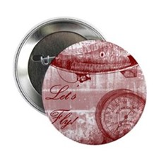 """Steampunk Airship 2.25"""" Button"""