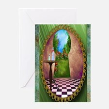 Through The Key Hole Greeting Card