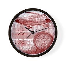 Steampunk Airship Wall Clock