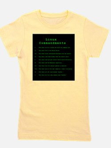 Linux Commandments Girl's Tee