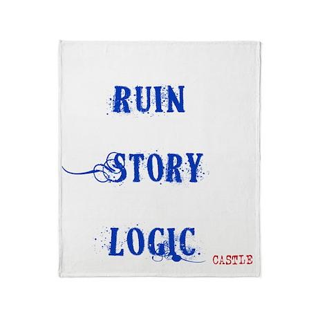 12x12fordkt_ruin_my_story_v2_withcas Throw Blanket