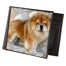 Chow Chow Leopard Print Cards Mens Wallet