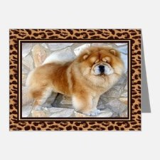 Chow Chow Leopard Print Card Note Cards (Pk of 20)