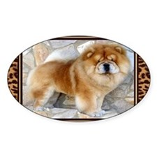 Chow Chow Leopard Print Cards Decal
