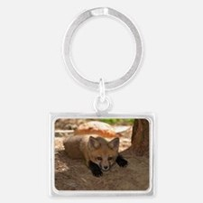 kit looking at me Landscape Keychain