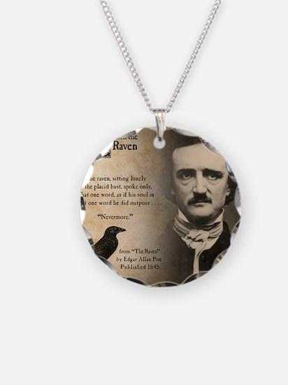 Edgar Allan Poe Necklace Circle Charm