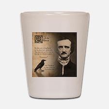 Edgar Allan Poe Shot Glass