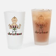 First Christmas (Boy 4 Design Drinking Glass