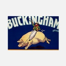 Antique 1920 Buckingham Pig Fruit Rectangle Magnet