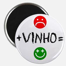 Plus Vinho Equals Happy Magnet