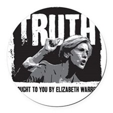 Truth by Elizabeth Warren Round Car Magnet