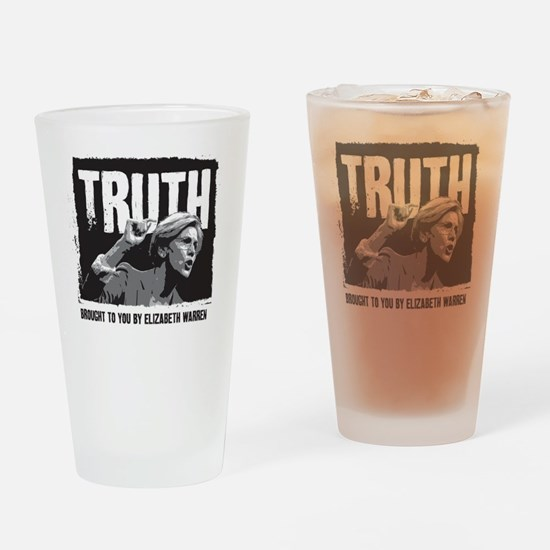 Truth by Elizabeth Warren Drinking Glass