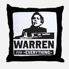Elizabeth Warren for Everything Throw Pillow