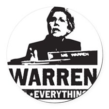 Elizabeth Warren for Everything Round Car Magnet
