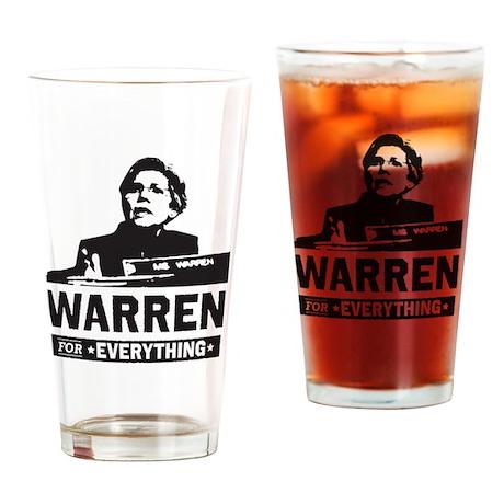 Elizabeth Warren for Everything Drinking Glass