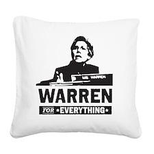Elizabeth Warren for Everythi Square Canvas Pillow