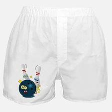 Bowling Ball and Pins Boxer Shorts