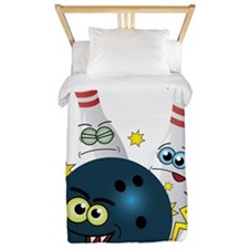 Bowling Ball and Pins Twin Duvet