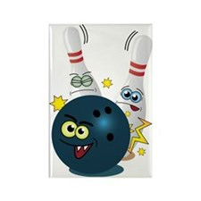 Bowling Ball and Pins Rectangle Magnet