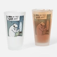 My first black Hair Drinking Glass