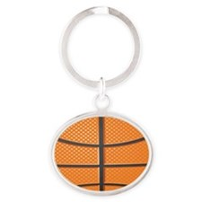 Basketball Oval Keychain