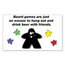 Meeple Text Decal