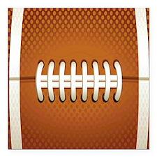 "Football Square Car Magnet 3"" x 3"""