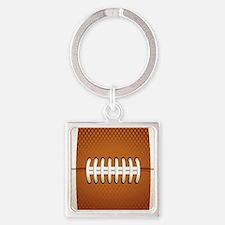 Football Square Keychain
